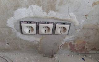 Как сделать внутреннюю розетку в бетонной стене