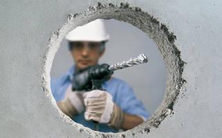 Чем сверлить бетонную стену в квартире