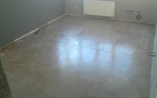 Чем обработать бетонный пол перед укладкой линолеума