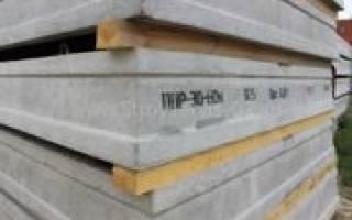 Складирование плит перекрытия на стройплощадке