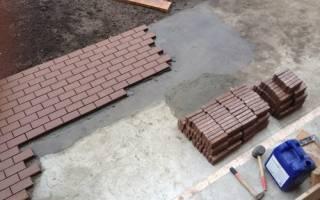 Как правильно положить брусчатку на бетонное основание