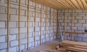 Внутренняя отделка стен из газобетонных блоков