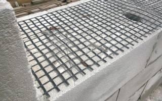 Армирование газобетонных блоков кладочной сеткой