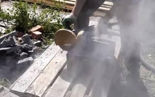 Как пилить бетон болгаркой без пыли
