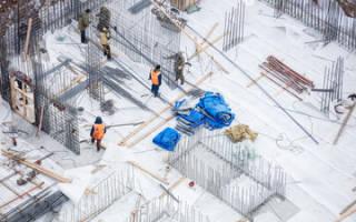 Температурный режим заливки бетона