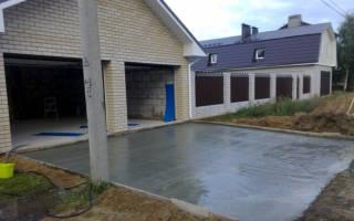 Заливка двора бетоном своими руками