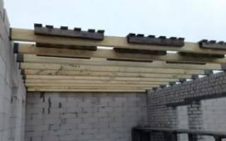 Как крепить балки перекрытия в деревянном доме
