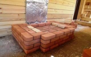 Фундамент под камин в деревянном доме