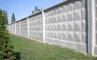 Как установить бетонный забор