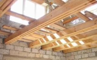 Деревянные перекрытия в доме из керамзитобетонных блоков