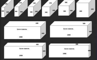 Плотность пеноблока для несущих стен