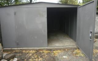 Фундамент под металлический гараж