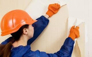 Как снять обои с гипсокартоновой стены