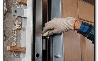 Установка входной двери в пеноблок