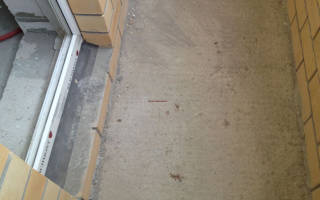 Заливка пола на балконе