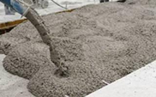 Расчет веса бетона по объему