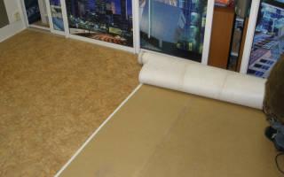 Фанера под линолеум на бетонный пол
