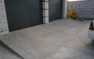 Заезд в гараж из бетона