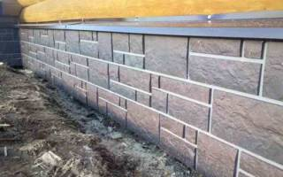 Плитка для фундамента дома под камень