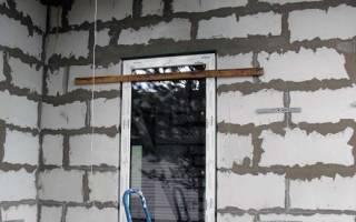 Установка входной металлической двери в газобетон