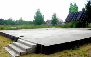 Фундамент под гараж монолитная плита