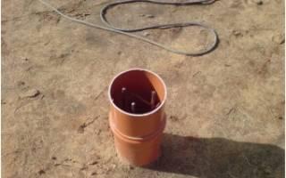 Свайный фундамент из пластиковых труб