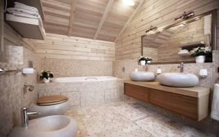 Ванная комната в каркасном доме своими руками