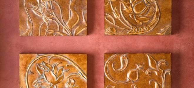 Декоративная плитка из гипса своими руками