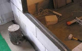 Армирование перегородок из газобетона