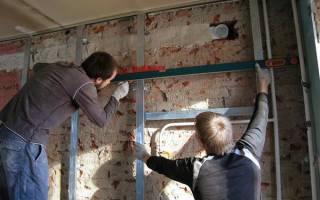 Как выровнять стены гипсокартоном в деревянном доме