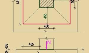 Пример расчета фундаментной плиты вручную