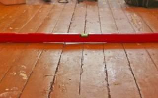 Как выровнять паркетный пол под ламинат