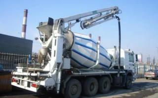 Доставка бетона миксером с бетононасосом