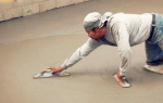 Затирка бетона вручную