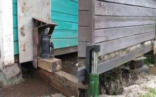 Каким домкратом можно поднять деревянный дом