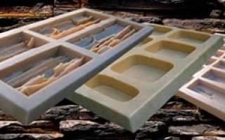 Гипсовая плитка своими руками изготовление