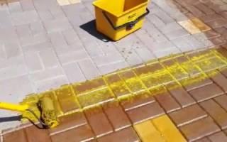 Краситель для тротуарной плитки своими руками