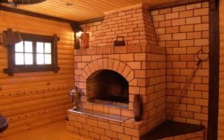 Печь на две комнаты в деревянном доме