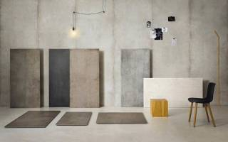 Плитка под бетон в интерьере