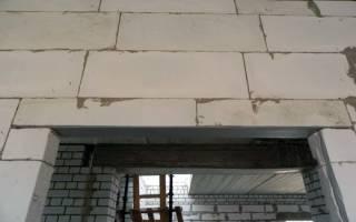 Усиление дверного проема в стене из пеноблоков