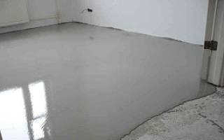 Сколько сохнет наливной пол под плитку