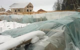 Подготовка фундамента к зиме