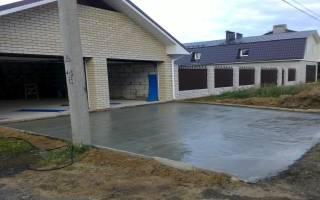 Залить двор бетоном своими руками