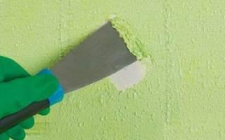 Как удалить масляную краску с бетонной стены