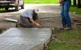 Как залить дорожку из цемента