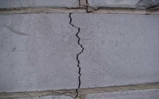 Как заделать трещину в стене из пеноблоков