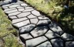 Дорожки из бетона под камень своими руками