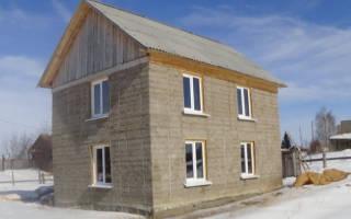 Дом из монолитного опилкобетона своими руками