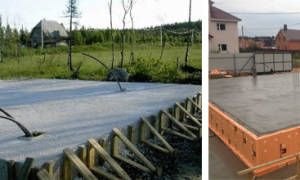 Толщина фундаментной плиты для дома из газобетона