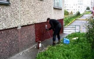 Чем покрасить фундамент дома снаружи